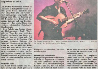 P_12_13.09.2012 Wochen-Zeitung Langnau Bericht Konzert Bandfestival